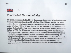 About the Herbal Garden of Nes -- Plants are grown that there is reason to believe were grown at Nes in 1760-1834