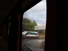 Arriving in Portland on the Amtrak Cascades train -- Arriving in Portland from Eugene on the Amtrak Cascades train. Despite all the negative that's said on US railways, I'm very impressed with my first 6-7 journeys...