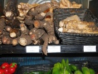 Ginger, horseradish and burdock roots at New Seasons Market in Portland