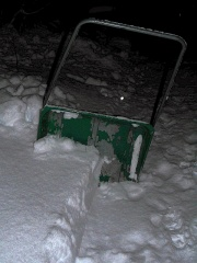 The snow shovel -- The snow clearing machinery (fuelled by the oats I had for breakfast!)