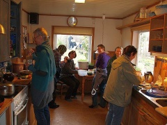 My kitchen -- Suddenly my kitchen was a hive of activity...