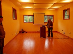 The venue for the talk on the neighbour's farm!! -- The venue for the talk on the neighbour's farm!!