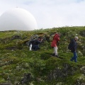 Kåre, Aiah and Søren descending from the giant puffball?