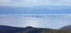 View from Baklifjellet -- View from Baklifjellet over Trondheimsfjorden with Frosta and the historic island Tautra